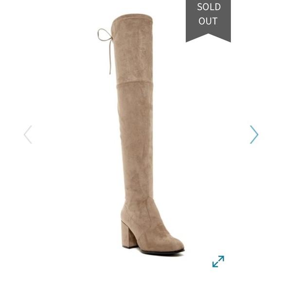 708f40704e7 🆕Steve Madden Slayer Taupe Over the Knee Boot 9